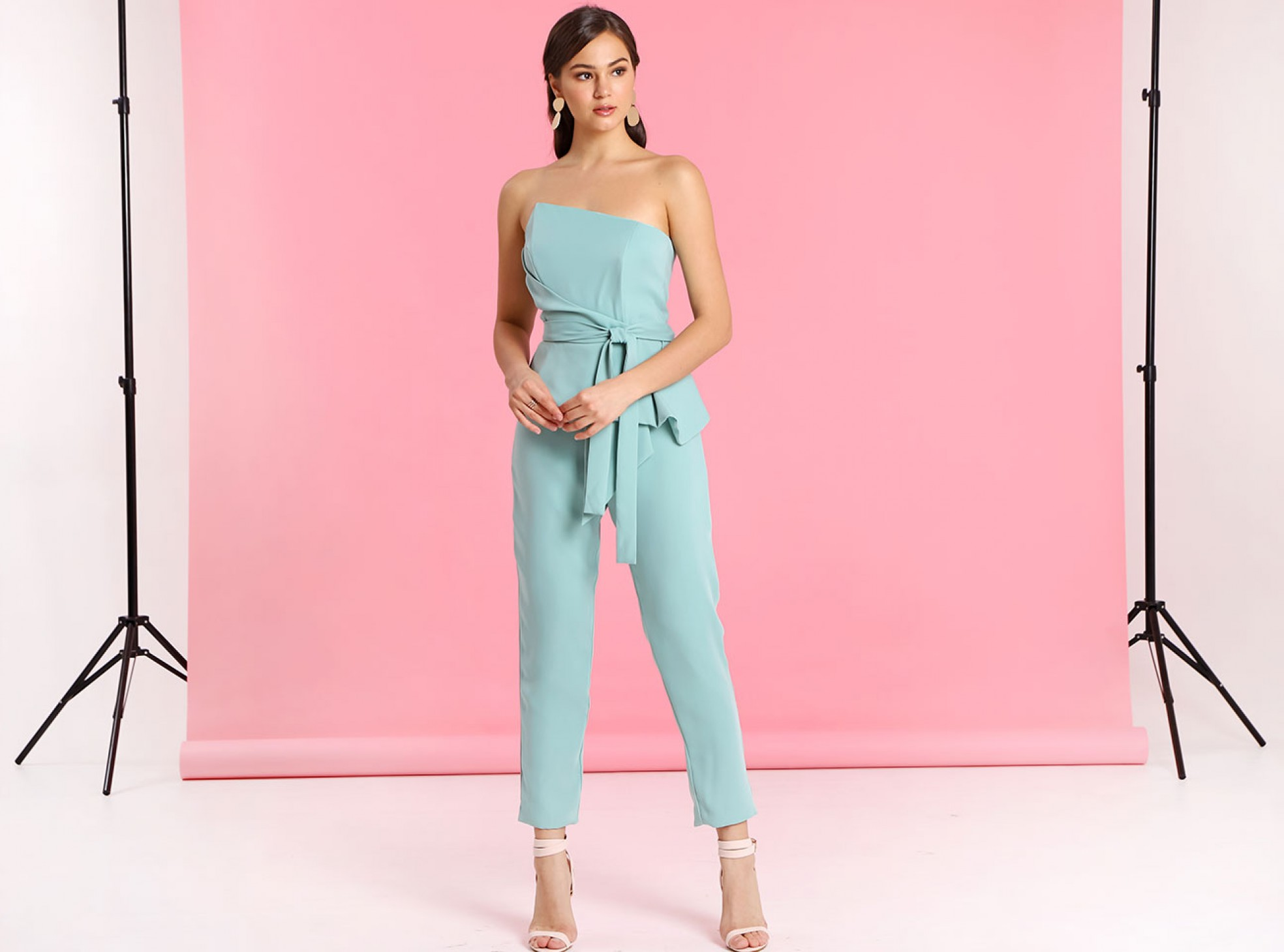 ORIGAMI FOLDED JUMPSUIT SAGE   MAISION.COM : Fashion